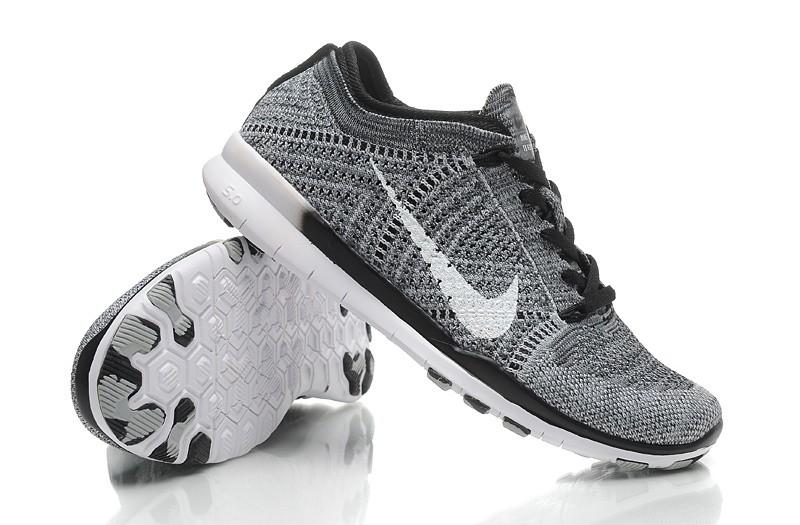 buy popular 46d85 715c1 ... 2015 New Release Nike Free Flyknit 5.0 Knit Vamp Mens Running Shoes  Grey Black ...