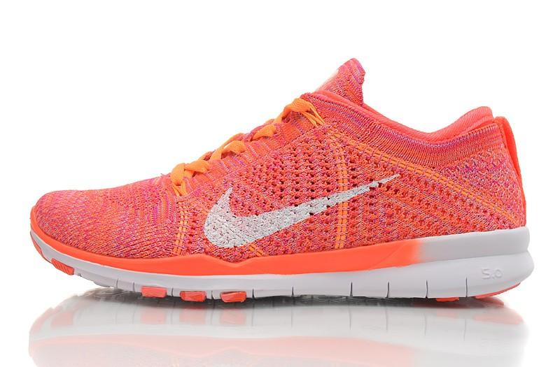 online retailer d0bd8 e0643 2015 New Release Nike Free Flyknit 5.0 Knit Vamp Womens Running Shoes Green  Orange