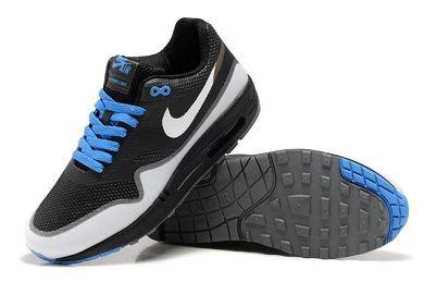reputable site 103f7 0ba42 ... Mens Nike Air Max 1 Hyperfuse Premium Shoes Black White Royal ...