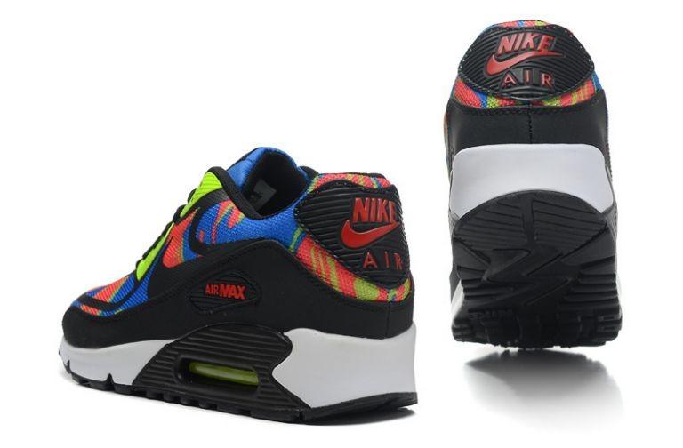 watch 911cf 3b56f ... Mens Nike Air Max 90 Premium Tape Runinng Shoes Blue Hero Team Red Volt  Black ...