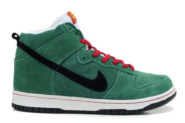 the best attitude e7951 3ac37 Mens Nike Dunk SB High Shoes Heineken Green Black [nike04 ...