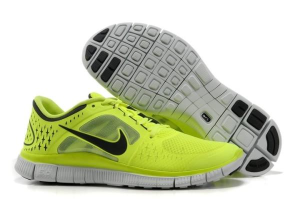 info for 716bd 58e7b Mens Nike Free 5.0 V3 Fluorescence Green Black Running Shoes [nike04 ...