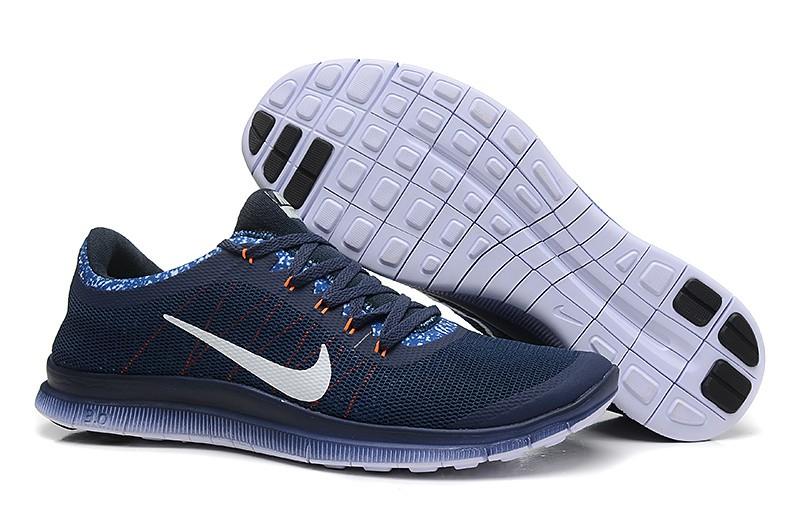 ebac8adb5bb6 Mens Nike Free Run 3.0 V6 Dark Blue White Running Shoes  nike04-0675 ...