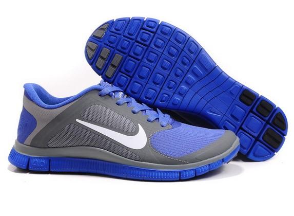 finest selection e8b71 10e1f Mens Nike Free Run 4.0 V3 Grey Violet Running Shoes