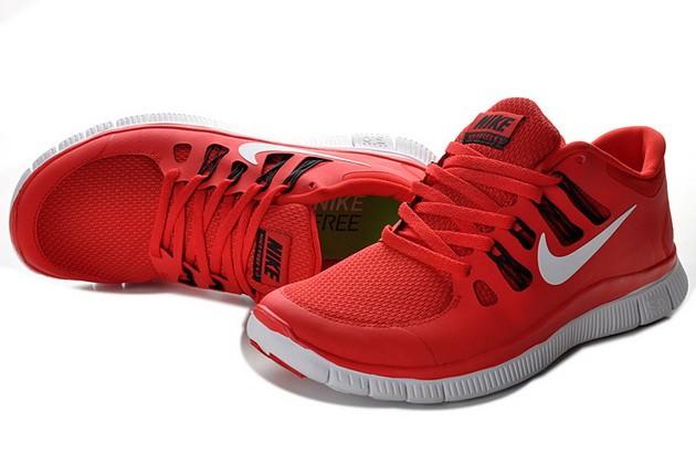 super popular 7c2be 0d818 Mens Nike Free Run 5.0 V2 Red White Running Shoes [nike04 ...