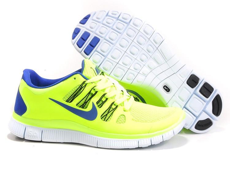 design intemporel 51fc5 ccdf8 Mens Nike Free Run 5.0 V2 Yellow Blue Running Shoes [nike04 ...