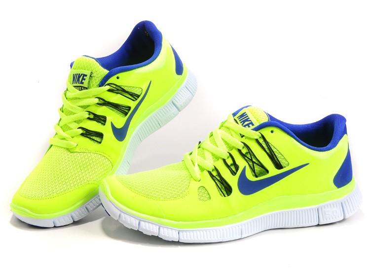 design intemporel e9908 012c6 Mens Nike Free Run 5.0 V2 Yellow Blue Running Shoes [nike04 ...