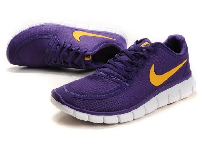 online store 068e6 e3fbb ... Mens Nike Free Run 5.0 V4 Purple Yellow Running Shoes ...