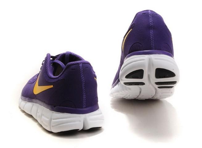 online store 73fbc 8207f ... Mens Nike Free Run 5.0 V4 Purple Yellow Running Shoes ...