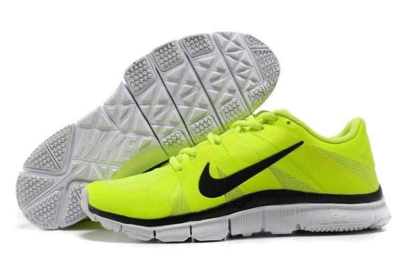 timeless design d5ed0 a65ce Mens Nike Free Trainer 5.0 V3 Volt Black White Training ...
