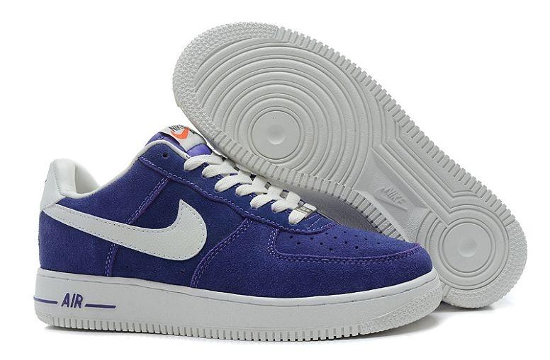 huge discount 56284 0b8cf Nike Air Force 1 Low Suede Mens Shoes Hyper Blue Voilet