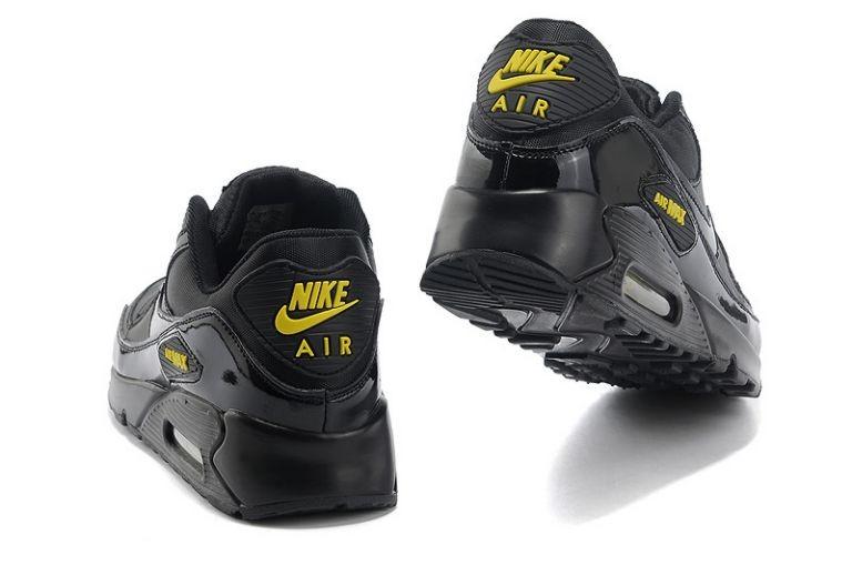 timeless design c5d98 14e00 ... Nike Air Max 90 Essential Mens Trainers Black Golden Sash ...