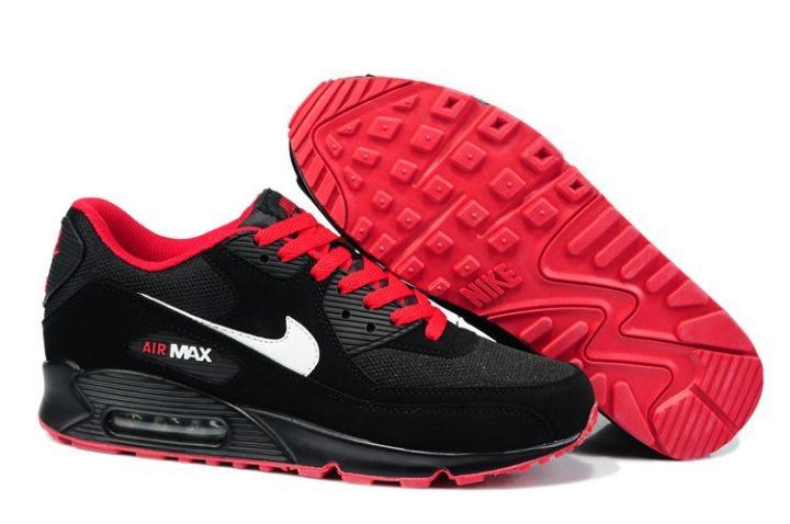 3294e15709a36 Nike Air Max 90 Essential Mens Trainers Black Red  nike04-0109 ...
