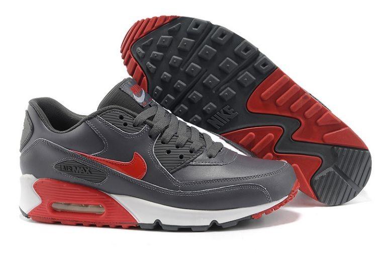 100% authentic f7ddb bae5b Nike Air Max 90 Essential Mens Trainers Leather Dark Grey ...
