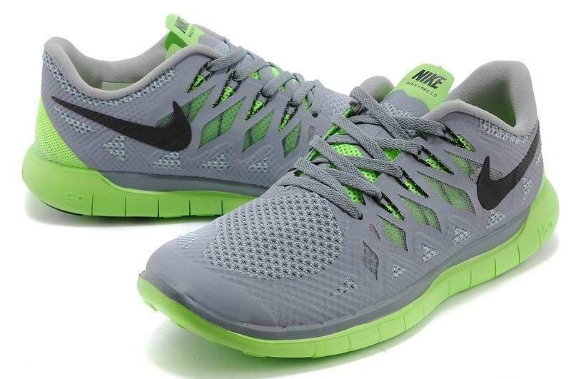 the best attitude 4cc94 c069d ... Nike Free 5.0 2014 Men  s Running Shoe Grey Green ...