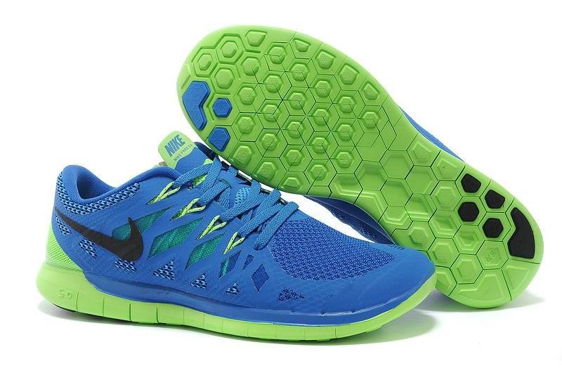 buy popular b3ce0 e6a0e Nike Free 5.0 2014 Men s Running Shoe Royal Blue Green