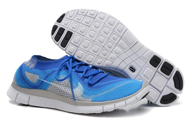 afbdf4260b2 Nike Free 5.0 Flyknit Mens Running Shoes Fluorescent Green Blue ...