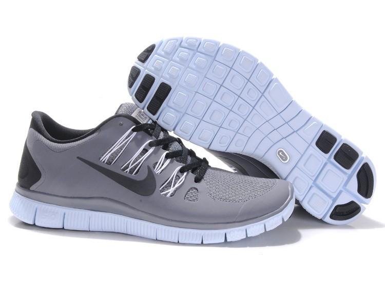 watch fb4f9 1cbb7 Nike Free 5.0 Mens Grey Black Running Shoes