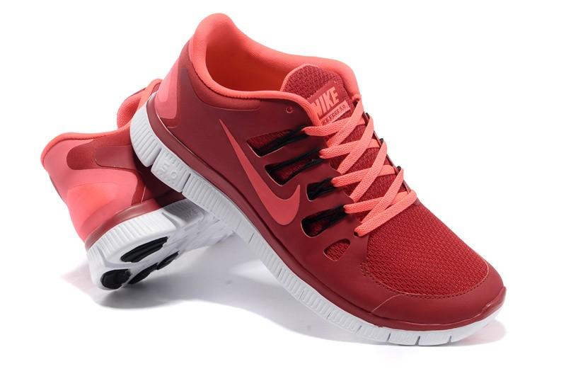 pretty nice eeaa3 437c8 Nike Free 5.0 Mens Red Pink Running Shoes [nike04-0594 ...