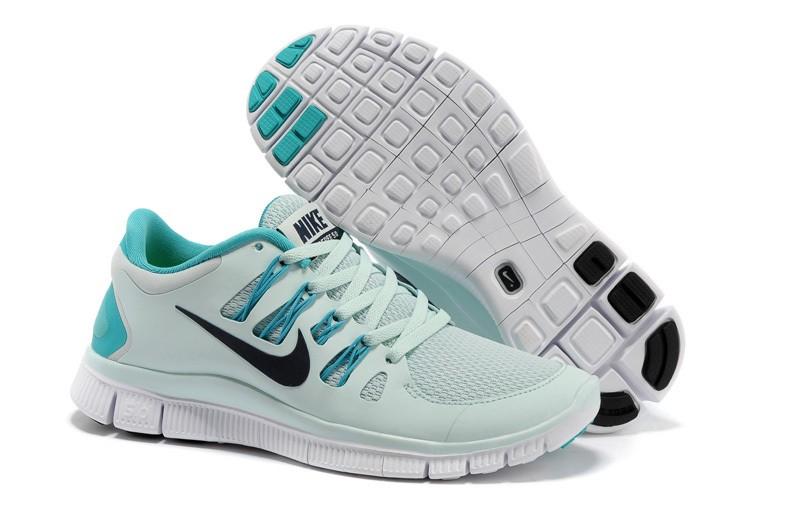 reputable site 4d8b0 e8617 Nike Free 5.0 Womens Grey Jade Running Shoes [nike04-1274 ...