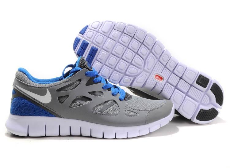 6475954be932 Nike Free Run 2 Womens Running Shoes Grey White Blue  nike04-1093 ...