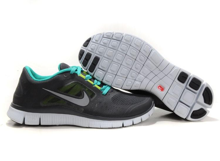 sports shoes bedcc 860b5 Nike Free Run 3 Womens Running Shoes Black Green