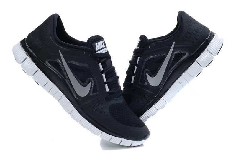 ... Nike Free Run 3 Womens Running Shoes Black ...
