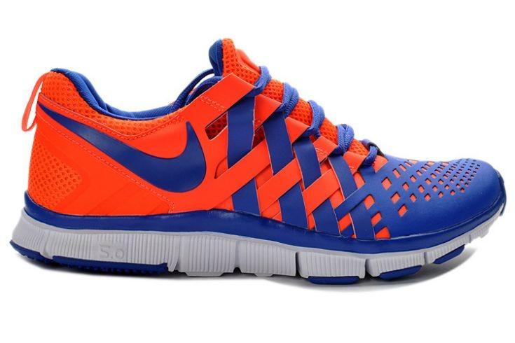 size 40 84917 90f87 Nike Free Trainer 5.0 V4 Mens Crimson Hyper Blue Training ...