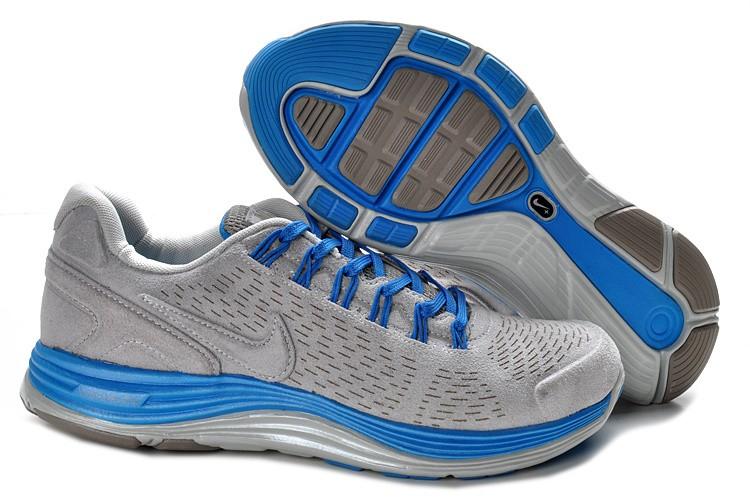 size 40 55f8a 9c4a3 Nike Lunarglide 4 Anti-Fur Mens Wolf Grey Fireberry Dynamic Blue Shoes