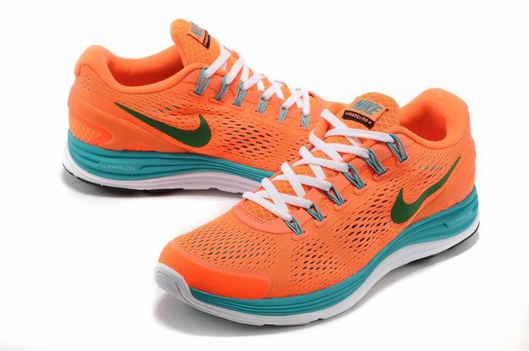 685541619c752 Nike Lunarglide 4 Mens Running Shoes Orange Jade Grass Green  nike04 ...