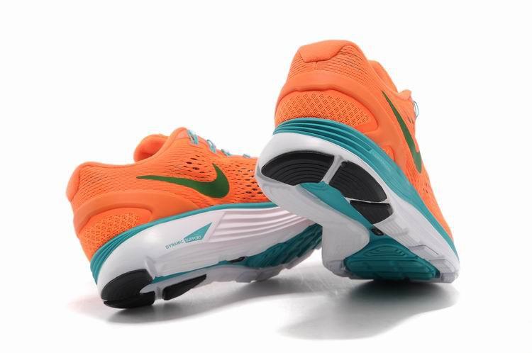 3071b7cb80444 Nike Lunarglide 4 Mens Running Shoes Orange Jade Grass Green  nike04 ...