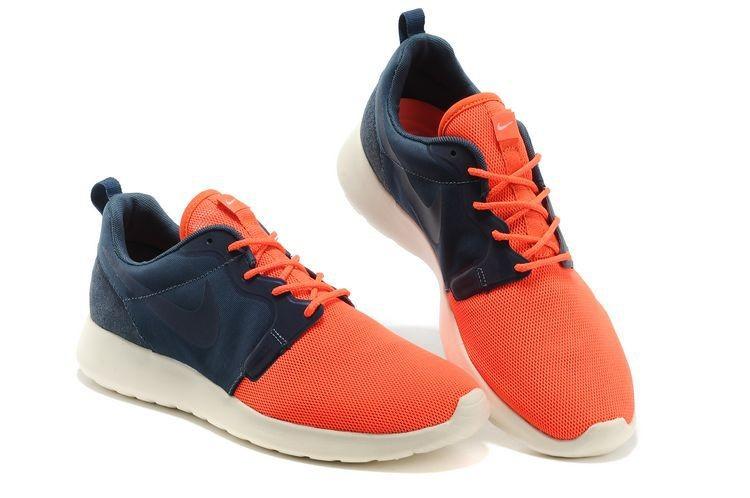 timeless design 4292c ca6bf Nike Roshe Run HYP QS Mens Runinng Shoes Orange Dark Blue
