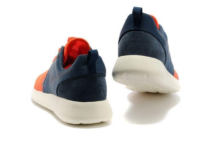 new arrivals 10126 78350 ... Nike Roshe Run HYP QS Mens Runinng Shoes Orange Dark Blue ...
