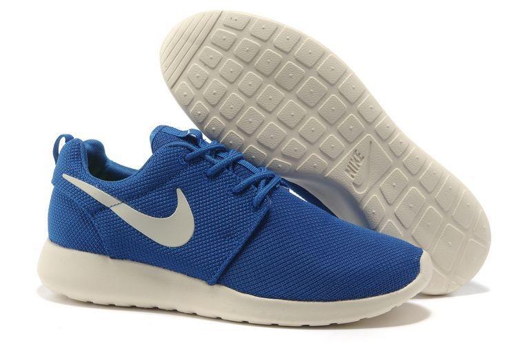 e2b7550165655 Nike Roshe Run Mesh Mens Trainers Blue White  nike04-0774  -  48.35 ...