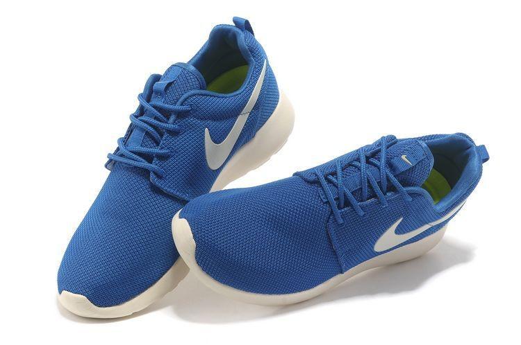 8036431d77d130 Nike Roshe Run Mesh Mens Trainers Blue White  nike04-0774  -  48.35 ...