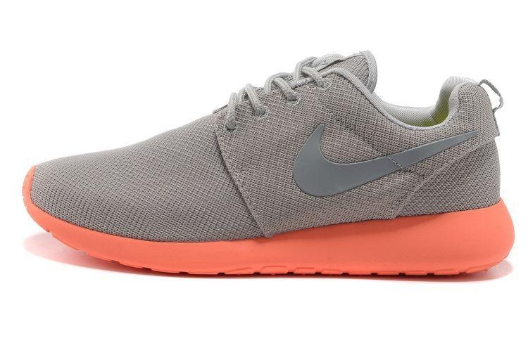 Nike Roshe Run Mesh Mens Trainers Gray Orange Silver ... better ... 05110cbbf2