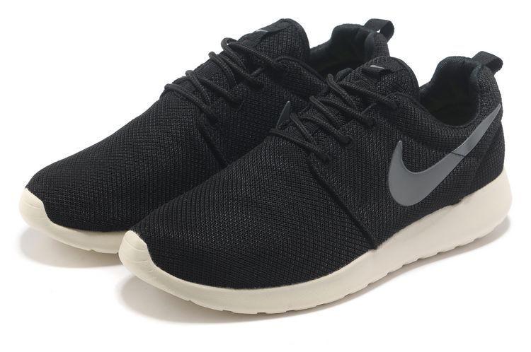 cb6150f423 Nike Roshe Run Mesh Womens Trainers Coal Black Charcoal [nike04-1417 ...