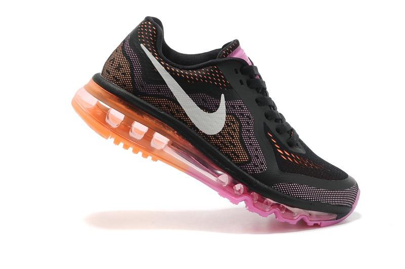 ... Womens Nike Air Max 2014 Running Shoes Black Sail Red Violet Atomic  Orange ...