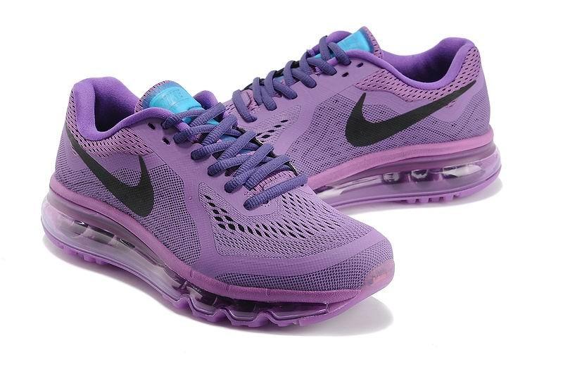 uk availability 69663 80a56 ... Womens Nike Air Max 2014 Running Shoes Fuchsia Purple Black ...