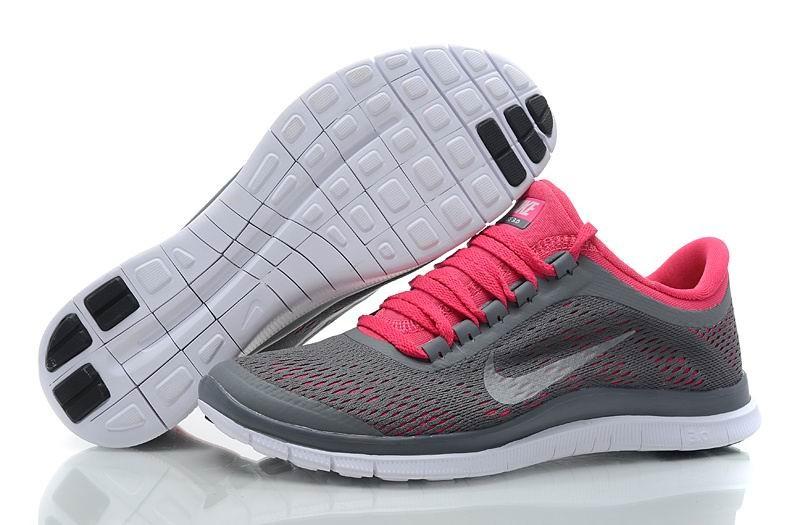 sale retailer c9545 5c020 Womens Nike Free 3.0 V5 Dark Grey White Pink Running Shoes