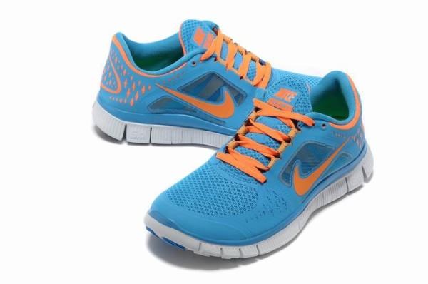 ... order womens nike free 5.0 v3 sky blue orange running shoes a88ed 50708 7193b606b789
