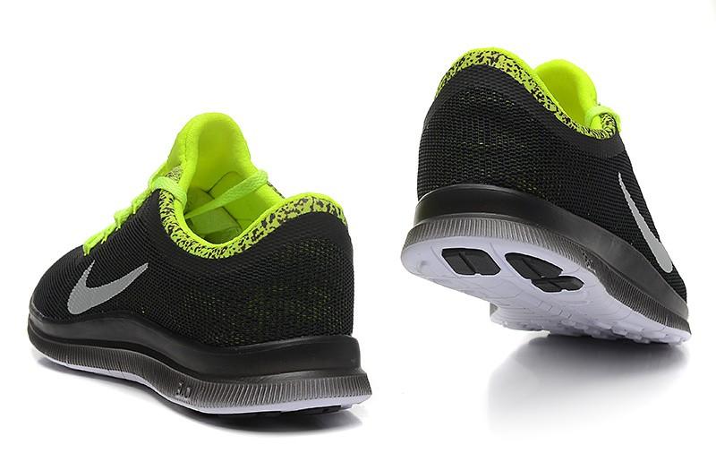 179acfe8e6c8 ... Womens Nike Free Run 3.0 V6 Black Fluorescent Green Running Shoes ...