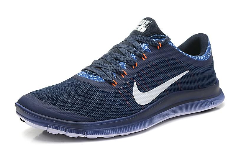 womens nike free run 3 0 v6 dark blue white running shoes. Black Bedroom Furniture Sets. Home Design Ideas