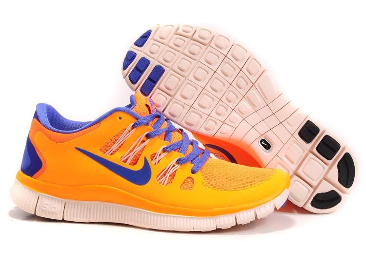 c4824fa5bfe9 Womens Nike Free Run 5.0 V2 Orange Blue Running Shoes  nike04-1409 ...